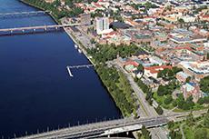 Flygfoto, Umeå
